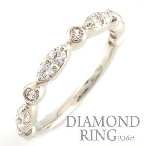 結婚指輪 婚約指輪 ダイヤモンド リング プラチナ レディース ダイヤモンドリング ピンキーリング pt900 指輪 ダイヤモンド 0.36ct ダイヤ