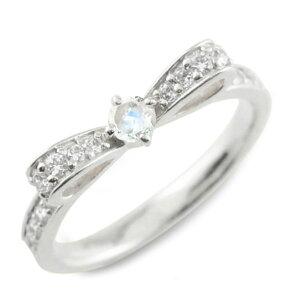 【ポイント5倍】 ブルームーン ピンキーリング リボンリング リボン ダイヤモンド リング プラチナ 指輪 ダイヤモンド 誕生石 pt900 ダイヤ 婚約指輪 結婚指輪 レディース クリスマス xmas