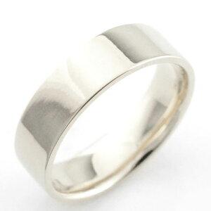 レディース リング プラチナ シンプル ストレート 平打ち 地金リング 結婚指輪 エンゲージリング ハンドメイド プラチナ900 6mm