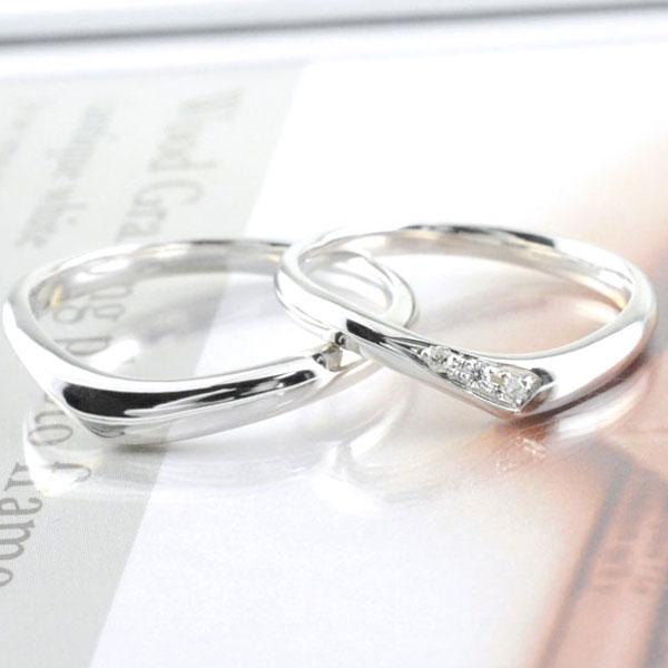 【送料無料】結婚指輪 マリッジリング ペアリング ダイヤモンド プラチナ Pt900 ペア 2本 セット ダイヤ 0.03ct ペアリング プラチナ メンズ レディース 記念日 指輪 【楽ギフ_包装】