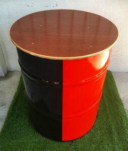 キャニチャー テーブル&スツールセット ブラック&オレンジ(TS-02 SOFA SET BLK & ORG) テーブル スツール     おしゃれ 家具 ドラム缶 ガーデンファニチャー