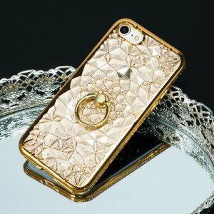 iPhoneXiPhone8ダイヤモンド柄リング付きTPU落下防止iPhoneケース、iPhone6/6s、iPhone6+/6s+iPhone7/7+iPhoneケースiPhone6plus