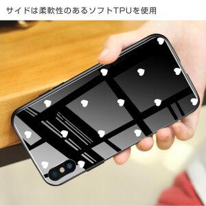 iPhoneケースiPhone8背面ガラスケーススクエア四角シェルクリスタルiPhoneケースおしゃれ海外可愛い強化ガラスストーン柄iPhone7plusiPhoneXRiPhoneXSMaxスマホケースiPhone8ケースiPhone6s8plus7plusiPhoneX6