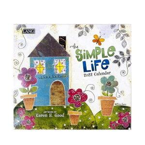 LANG カレンダー 2022年 壁掛け Simple Life Karen H. Good ラング カントリー ガーリー インテリア 令和4年暦 シネマコレクション