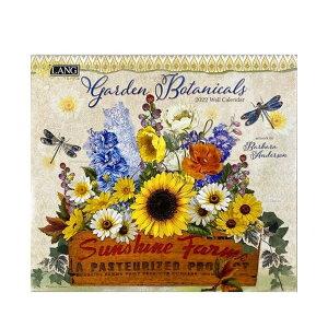 LANG 2022年 カレンダー 壁掛け Garden Botanicals Barbara Anderson ラング カントリー 風景 インテリア 令和4年暦 シネマコレクション 21clsc