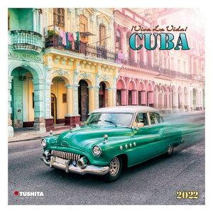 壁掛け 2022 カレンダー CUBA キューバ TUSHITA 写真 風景 インテリア 令和4年暦 シネマコレクション 21clsc