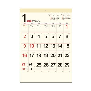 カレンダー 2022年 壁掛け スケジュール クリーム メモ月表 新日本カレンダー 実用 書き込み シンプル ビジネス 令和4年 暦 予約 シネマコレクション