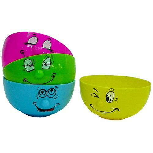 【Funny Face】プラスチックボウル4個セット 電子レンジ使用OK! 面白食器 茶碗 通販 【あす楽対応】【あす楽】 シネコレの日【全品ポイント10倍】9/21朝10時まで【ママ割】エントリーで全品ポイント5倍