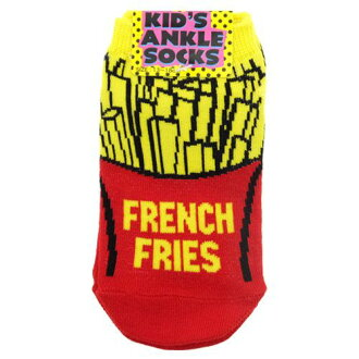 "Children's socks: kids ' sneakers socks Babe ""FRENCH FRIES / fried potatoes"" ☆ octanicorporation (13 to 18 cm) and ankle socks toy store ☆ ◆"