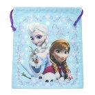 アナと雪の女王 グッズ 巾着袋 きんちゃくポーチL スカイブルー アートウエルド かわいい 新…