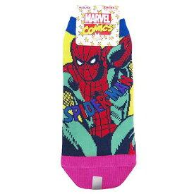 スパイダーマン 女性用靴下 レディースソックス マーベル スモールプラネット 約22-24cm キャラックス キャラクター グッズ メール便可 [MARVELCorner]