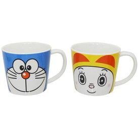 ドラえもん マグカップ ペアマグ 2個セット ドラえもん&ドラミちゃん 金正陶器 ギフト 雑貨 日本製食器 アニメキャラクター グッズ 通販 シネマコレクション