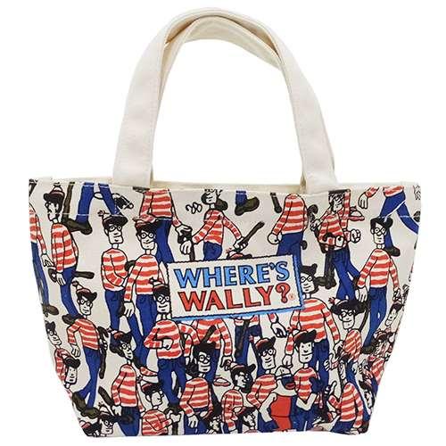 ウォーリーを探せ ランチバッグ マチ付きコットンバッグ 探せ スモールプラネット 30×20×9.5cm お弁当かばん キャラクターグッズ通販 【あす楽】シネマコレクション