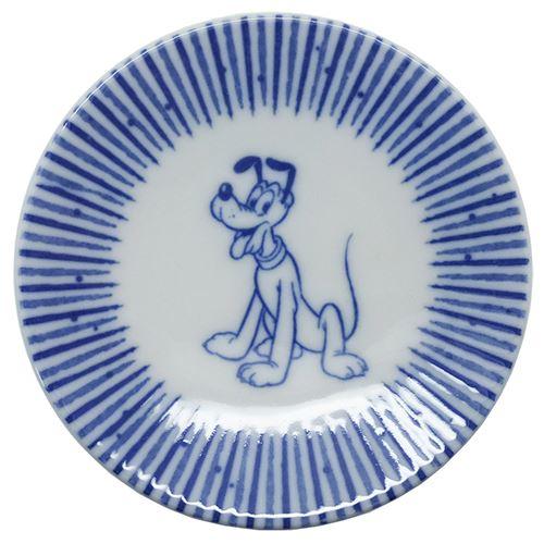 プルート ミニ小皿 陶磁器製豆皿 ディズニー 三郷陶器 直径約90mm 小粋染付 キャラクターグッズ通販 【あす楽】シネマコレクション
