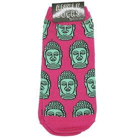 靴下 BUDDHA 男女兼用 アンクルソックス オクタニコーポレーション 23-25cm メンズ レディース かわいいグッズ メール便可