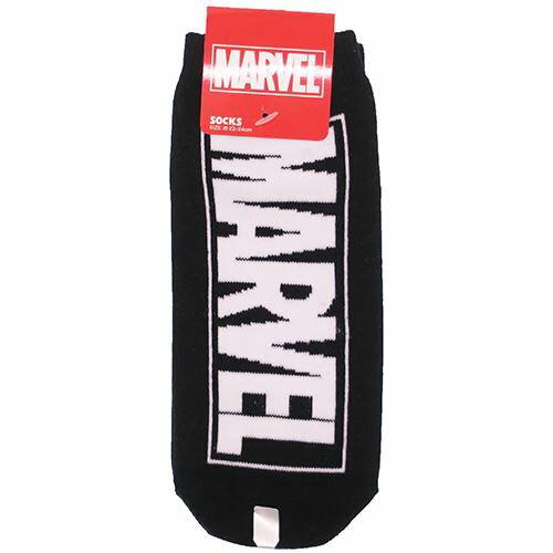 MARVEL ロゴ 女性用 靴下 レディース ソックス ブラック マーベル スモールプラネット 22〜24cm アメコミ キャラクターグッズ通販 【メール便可】【あす楽】【MARVELCorner】