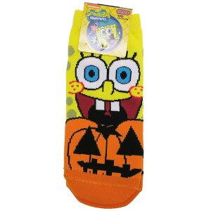スポンジボブ 女性用靴下 レディースソックス ハロウィン かぼちゃ スモールプラネット HALLOWEEN キャラクター グッズ メール便可 シネマコレクション