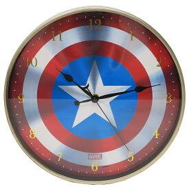キャプテンアメリカ 壁掛け 時計 インデックス ウォール クロック マーベル ティーズファクトリー 直径30cm ギフト 雑貨 キャラクターグッズ 通販 【MARVELCorner】