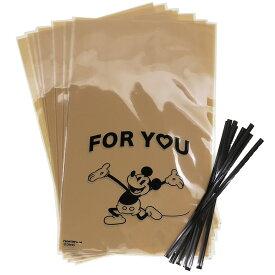 ミッキーマウス ラッピング 用品 ギフト袋 & ワイヤータイ 8セット フォーユー ディズニー フロンティア プレゼント包装 キャラクター グッズ 通販 メール便可 シネマコレクション