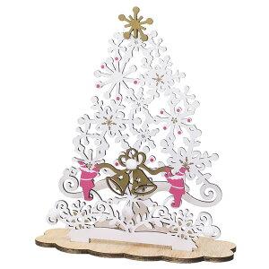 Wood Card series クリスマスカード スタンド ホワイトツリー APJ 封筒付き グリーティングカード Xmas グッズ 通販 メール便可 シネマコレクション