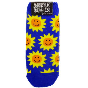 ひまわりSMILE 女性用靴下 レディースアンクルソックス オクタニコーポレーション 23-26cm 男女兼用 プチギフト グッズ メール便可 シネマコレクション