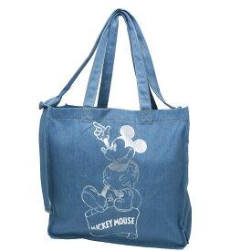 ミッキーマウス トートバッグ TALL トール デニム2wayショルダートート Otona Disney ディズニー ROOTOTE 41×39×15cm 手提げかばん キャラクターグッズ通販 【あす楽】シネマコレクション