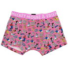 ミッキーマウス 男性用下着 メンズボクサーパンツ ロゴいっぱい PK ディズニー スモールプラ…