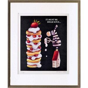 藪上 陽子 アートフレーム 額装品 しまうまとケーキ 美工社 ギフト 300枚限定 額付きインテリア 雑貨 取寄品 シネマコレクション