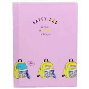 ポケットファイル My Happy feeling ファイル 10ポケット A4 クリアファイル BACK PACK 新学期 準備 雑貨 文具 かわいいグッズシネマコレクション
