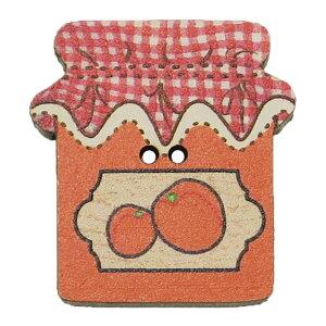アトリエボヌールドゥジュール 手芸用品 フランス製木製飾りボタン オレンジジャム ハートアートコレクション ハンドクラフト おしゃれ 手作り 雑貨 グッズ 通販 メール便可 シネマコレク