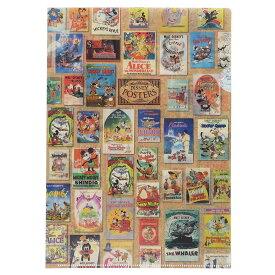 クリアファイル A4 Disney ポスター ファイル シングル 2159503 ディズニー サンスター文具 事務用品 日本製 キャラクターグッズ メール便可 シネマコレクション cfcp