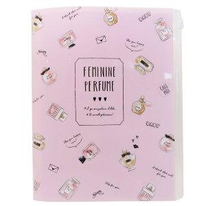 ファイル ジップファスナー付 6ポケット A4 クリアファイル FEMININE PERFUME カミオジャパン 新学期準備 雑貨 かわいい 文具 グッズ シネマコレクション