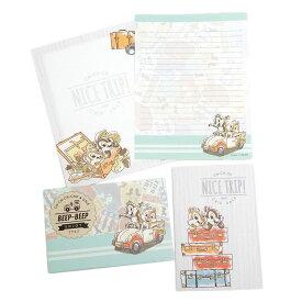チップ&デール レターセット 手紙セット 2085887 ディズニー サンスター文具 便箋 封筒 日本製 キャラクターグッズ メール便可 シネマコレクション