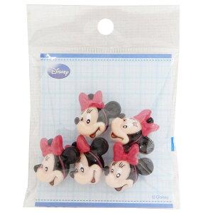 ミニーマウス 手芸用品 飾りミニボタン5個セット フェイススマイル ディズニー パイオニア ハンドクラフト かわいい キャラクター グッズ 通販 メール便可 シネマコレクション