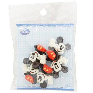 ミッキーマウス 手芸用品 飾りミニボタン5個セット 上半身 ディズニー パイオニア ハンドクラフト かわいい キャラクター グッズ 通販 メール便可 シネマコレクション