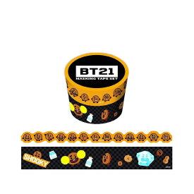 BT21 マスキングテープ 30mm マステ + 20mm ダイカット マステ 2巻 セット SHOOKY LINE エンスカイ K-POP アーティスト 公式 キャラクター グッズ 通販 シネマコレクション