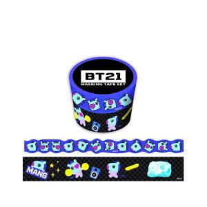 BT21 マスキングテープ 30mm マステ + 20mm ダイカット マステ 2巻 セット MANG LINE エンスカイ 公式 キャラクター シネマコレクション