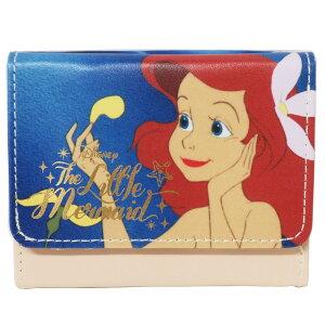 リトルマーメイド アリエル 3つ折り財布 ミニウォレット スラッシュ ディズニープリンセス SHO-BI 大人かわいい ギフト 雑貨 大人向け キャラクター グッズ メール便可