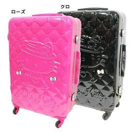 ハローキティ スーツケース 26インチキャリーケース キルティング柄 サンリオ アートウエルド 66リットル 海外旅行 バッグ キャラクターグッズ シネマコレクション