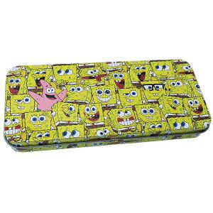 スポンジボブ 缶 ペンケース キャラ カンペン ボブいっぱい スモールプラネット 新学期 雑貨 筆箱 キャラクターグッズ シネマコレクション