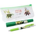 MARVEL GuriHiru マッキー 油性 緑ペン & サラサクリップ ボールペン ペンセット マイティ…