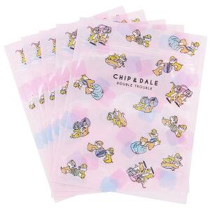 チップ&デール ジップバック エンベロープ 5枚セット ハニー&ナッツ ピンク ディズニー サンスター文具 小物入れ キャラクターグッズ メール便可 シネマコレクション