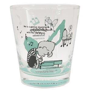 スヌーピー ガラス コップ グラス タンブラー スヌーピー&シュローダー ピーナッツ 金正陶器 260ml ギフト食器 キャラクター グッズ 通販 シネマコレクション