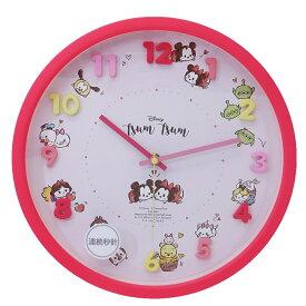 ディズニーツムツム 壁掛け時計 アイコン ウォールクロック ディズニー ティーズファクトリー 新生活準備 ギフト 雑貨 キャラクターグッズ シネマコレクション