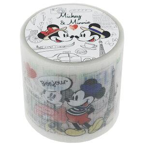 ミッキー & ミニー 45mm デザイン 養生テープ YOJO TAPE ディズニー デルフィーノ ビッグマステ 幅広梱包テープ キャラクターグッズ シネマコレクション