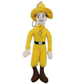 おさるのジョージ ミニ ぬいぐるみ ボールチェーン マスコット 黄色い帽子のおじさん サンアロー かわいい ギフト 雑貨 絵本キャラクターグッズ シネマコレクション