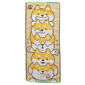 フェイスタオル わたしはやっぱり犬が好き ジャガード ロングタオル つみしば いぬ 犬飼タオル プチギフト かわいいグッズ メール便可 シネマコレクション