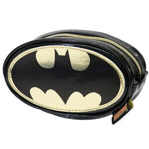 バットマン コスメポーチ ラウンド ポーチ バットマンロゴ DCコミック スモールプラネット 小物入れ ギフト 雑貨 キャラクターグッズ シネマコレクション