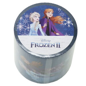 アナと雪の女王2 45mm デザイン 養生テープ YOJOテープ ブルー ディズニー デルフィーノ ビッグマステ 幅広梱包テープ キャラクターグッズ シネマコレクション cpdp-2103