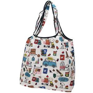 スヌーピー エコバッグ くるくる 折りたたみ ショッピングバッグ ショッピング ピーナッツ スモールプラネット お買い物かばん キャラクターグッズ メール便可 シネマコレクション cpsn-x